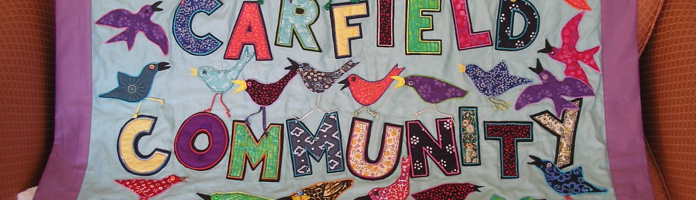 Our banner of many birds, made by many members in 2011