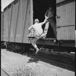 hopping a train
